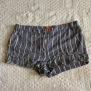 Joe Fresh striped linen blend shorts sz 10